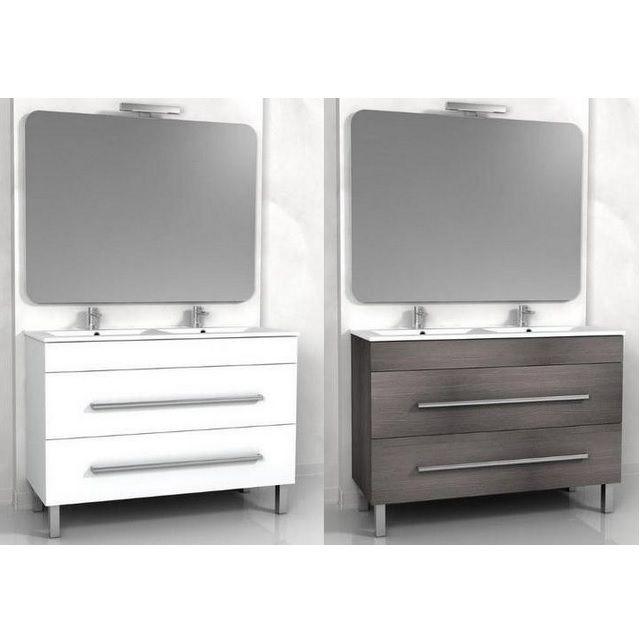 mobile bagno sirio doppio lavabo cm 120 bianco o weng grigio lavabo in ceramica