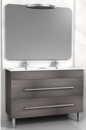 Mobile bagno sirio doppio lavabo cm 120 con 2 colori e for Bagno doppio lavabo offerta