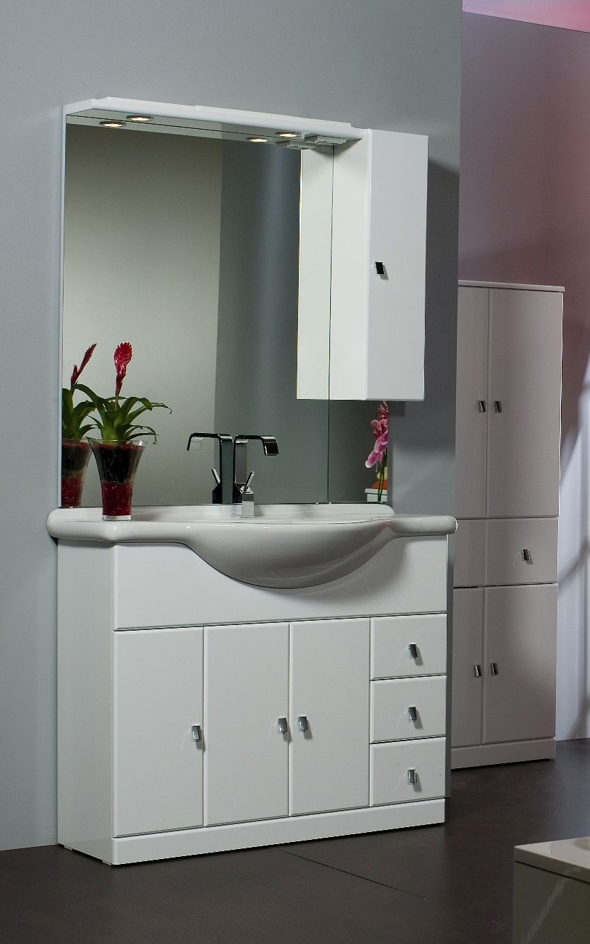 mobile bagno cleo cm 105 bianco bh