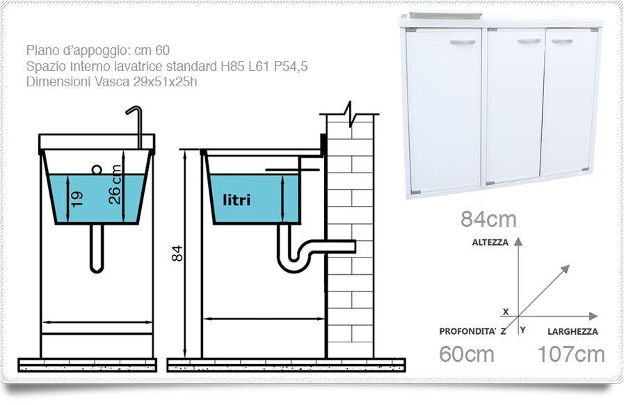 Lavatoio con coprilavatrice lavapanni esterno interno de for Coprilavatrice da interno