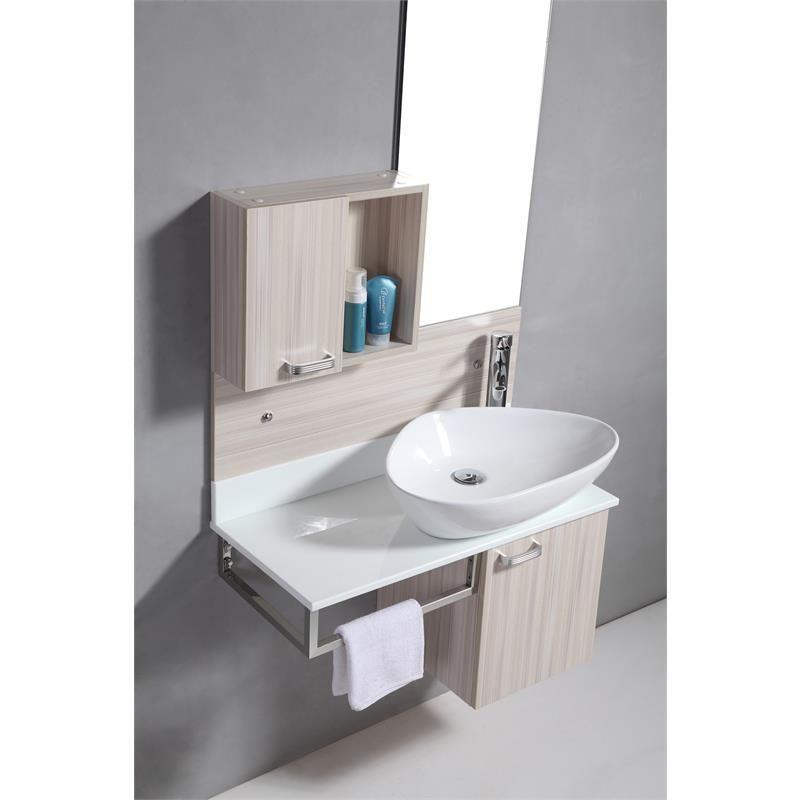 Arredo bagno topazio sospeso con lavabo d 39 appoggio pd sb - Mobile con lavabo bagno ...