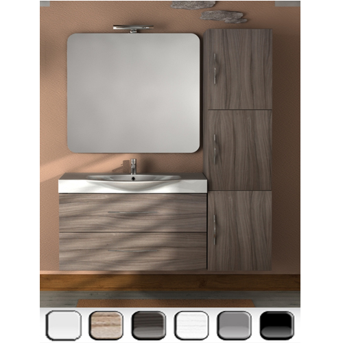 Mobile bagno new york per arredo bagno moderno vari colori bh - Mobile bagno blu ...