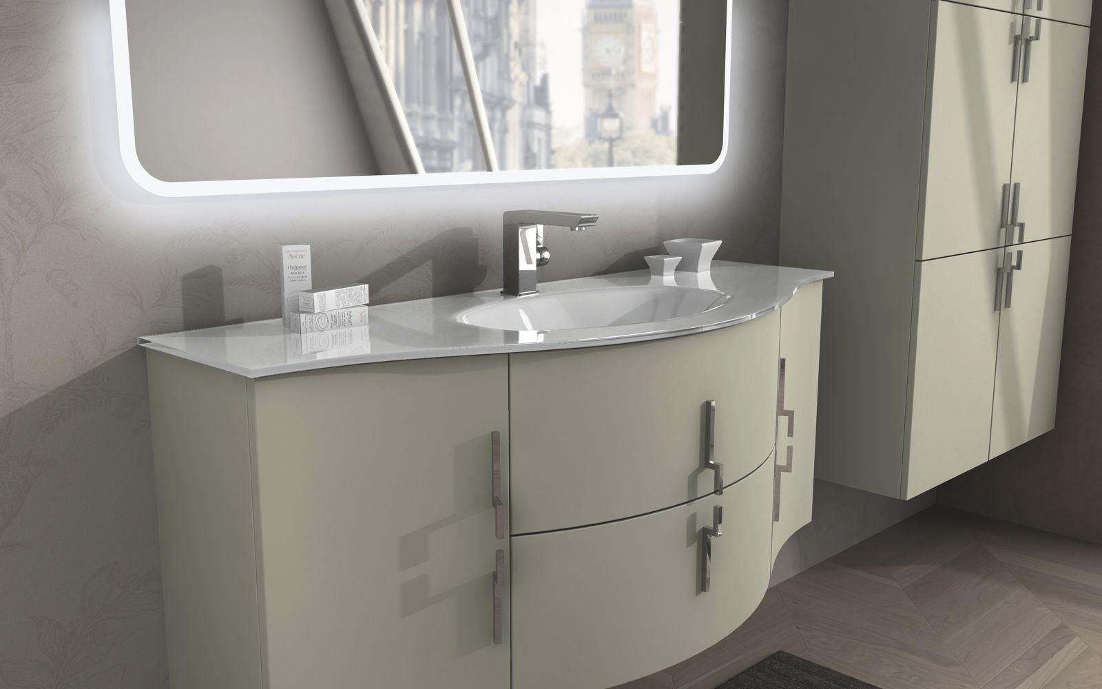 Arredo bagno sting 138 cm in 4 colorazioni mobile - Mobile bagno non sospeso ...
