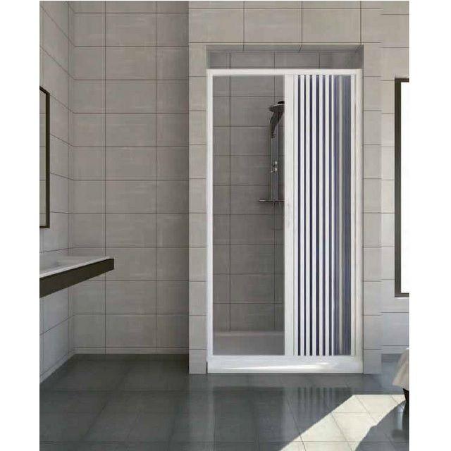 Porta doccia a nicchia apertura laterale in pvc - Doccia con tubi esterni ...