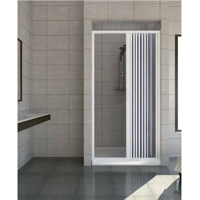 Porta doccia a nicchia apertura laterale in pvc - Box doccia vetrocemento ...