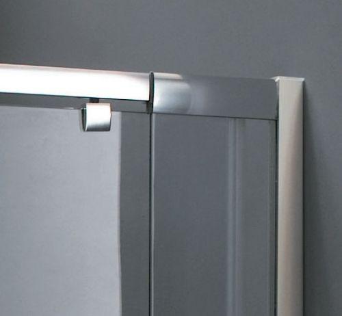 Porta per doccia a nicchia anta battente vetro opaco pa for Porte a battente