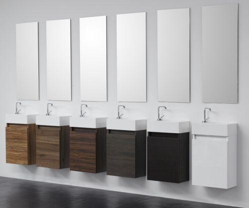 Arredo bagno z minimal mobile bagno moderno in wenge 39 pa - Bagno moderno grigio ...