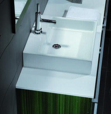 Lavabo d 39 appoggio per mobile bagno quadro - Mobile bagno per lavabo da appoggio ...