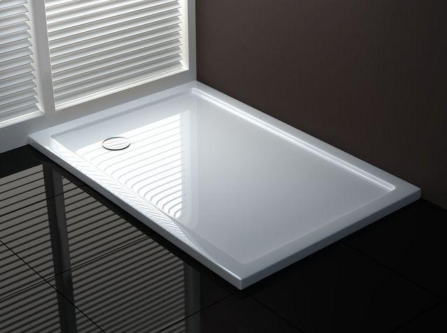 Piatto doccia acrilico design sottile e moderno go - Doccia senza piatto ...