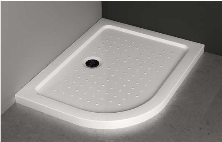 Box doccia semicircolare 70x90 cristallo trasparente o - Piatto doccia piccole dimensioni ...