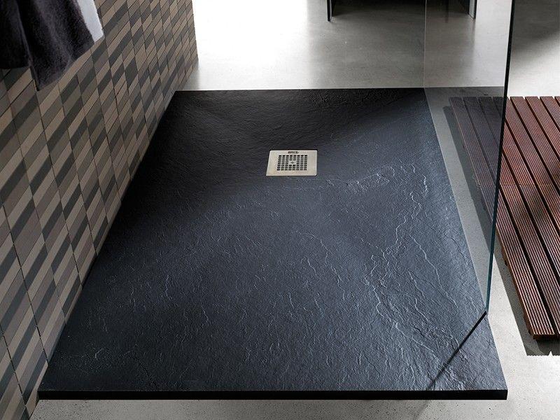 Piatto doccia marmo resina 3cm con piletta sifonata in 6 for Piletta doccia filo pavimento