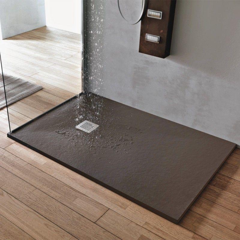 Piatto doccia marmo resina 3cm con piletta sifonata in 6 - Piatto doccia in pietra ...