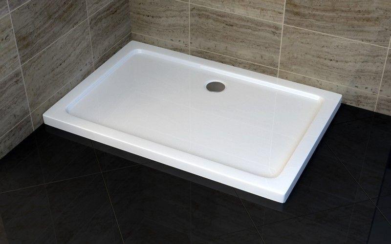 piatto doccia in acrilico rinforzato spessore 5 cm quadrato rettangolare in varie misure. Black Bedroom Furniture Sets. Home Design Ideas