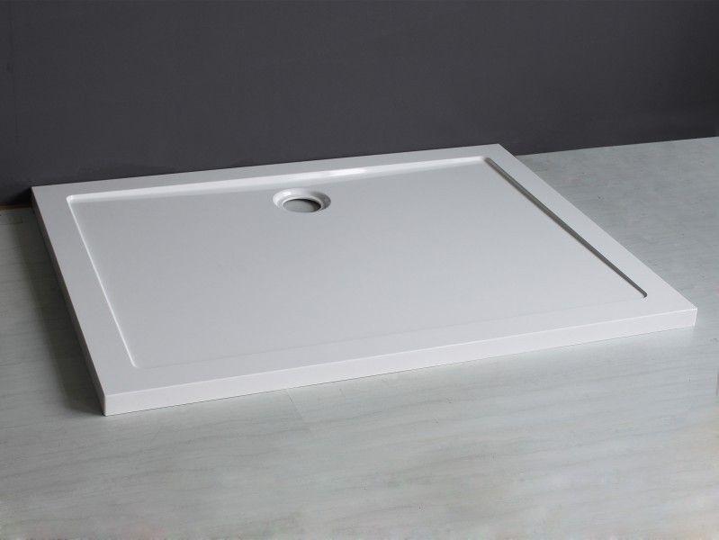 Piatto doccia in acrilico rinforzato spessore 5 cm quadrato rettangolare in varie misure