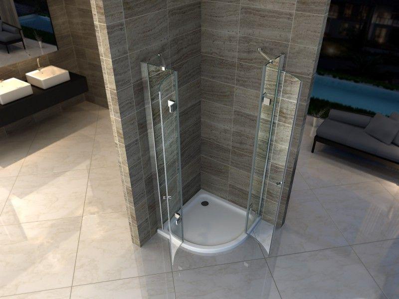 Piatto doccia semicircolare in acrilico rinforzato - Piatto doccia incassato nel pavimento ...