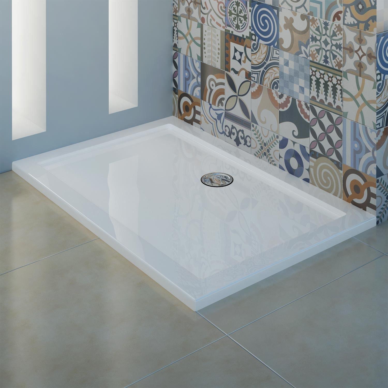 Piatto doccia ultrasottile in acrilico 4cm bianco - Piatti doccia particolari ...