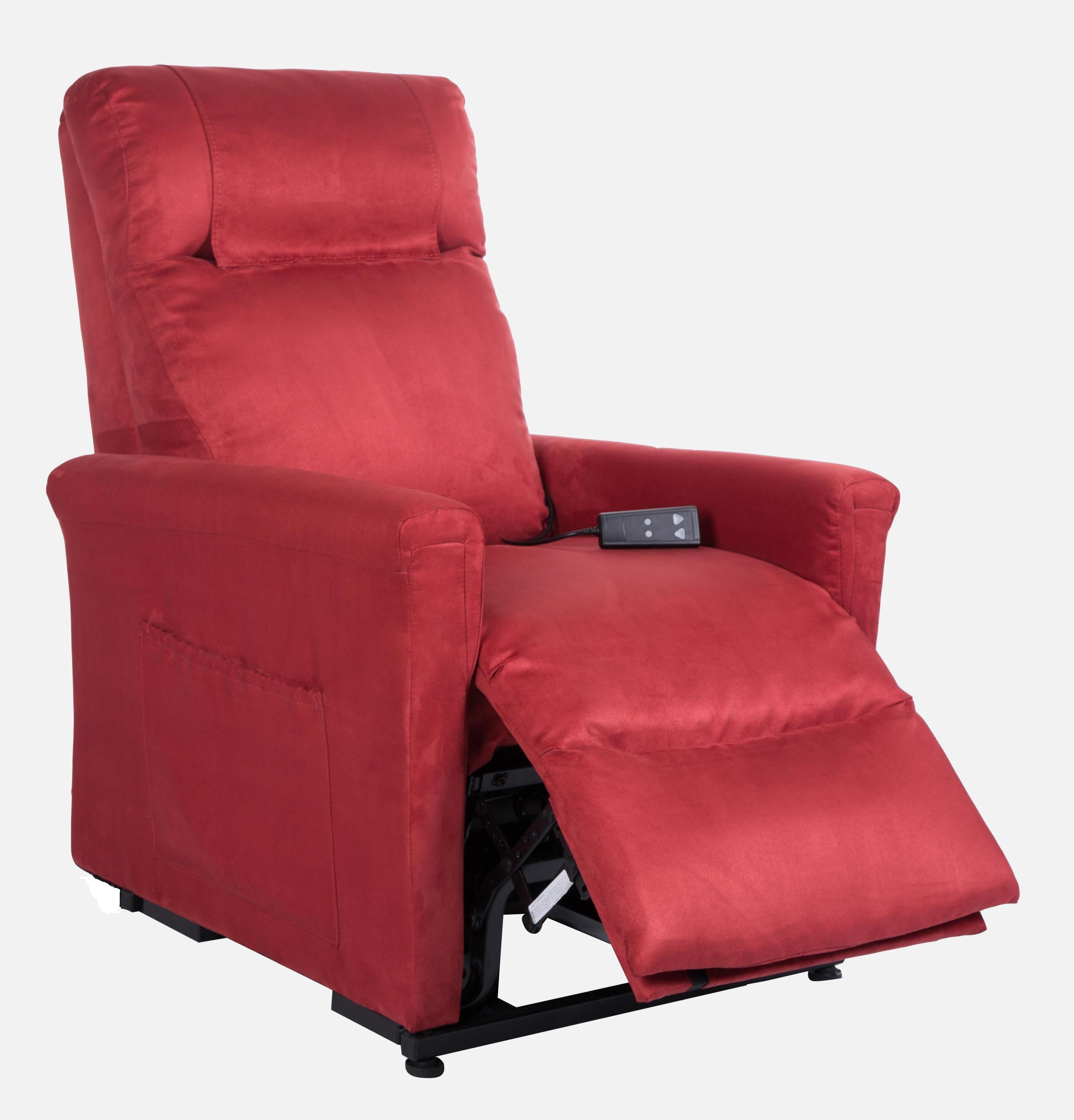 Poltona reclinabile dalila alza persona ad un motore vibro for Poltrone elevabili