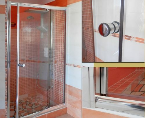 battente per Box doccia nicchia vetro trasparente o puntinato hd