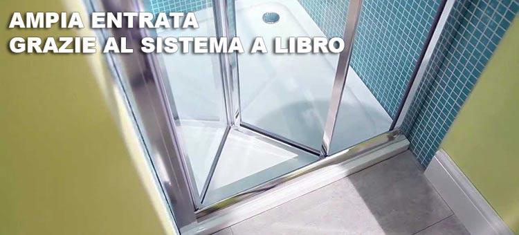 Box doccia a soffietto apertura da entrambi i lati a libro ...