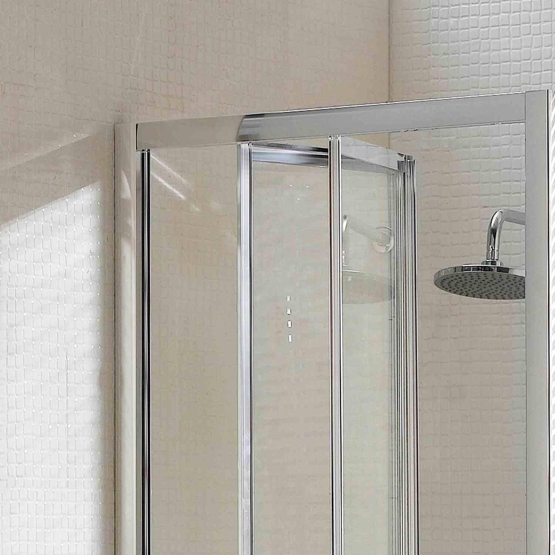 Porta doccia a soffietto apertura in entrambi i lati a libro trasparente opaco - Porta a libro prezzo ...