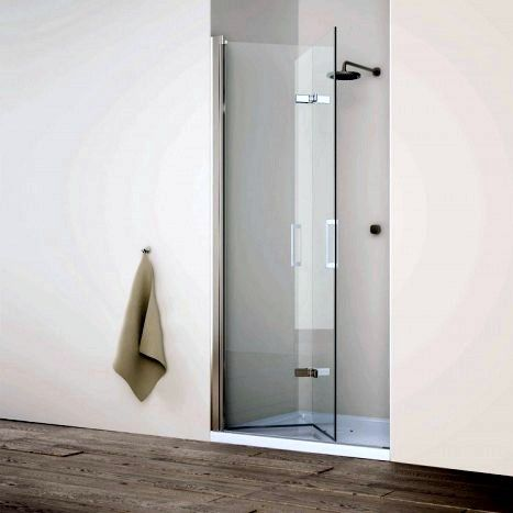 Porta doccia nicchia vetro temperato 8mm trasparente a libro h195 da 70 a 100 8 ebay - Porta doccia nicchia prezzi ...