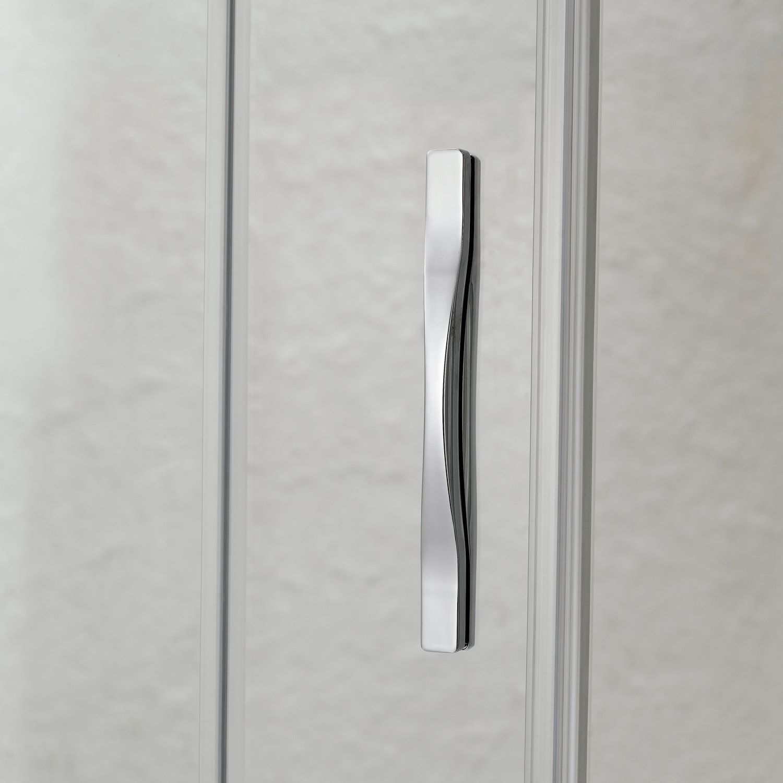 Porta doccia un anta scorrevole per nicchia h198 cristallo - Porta per doccia ...
