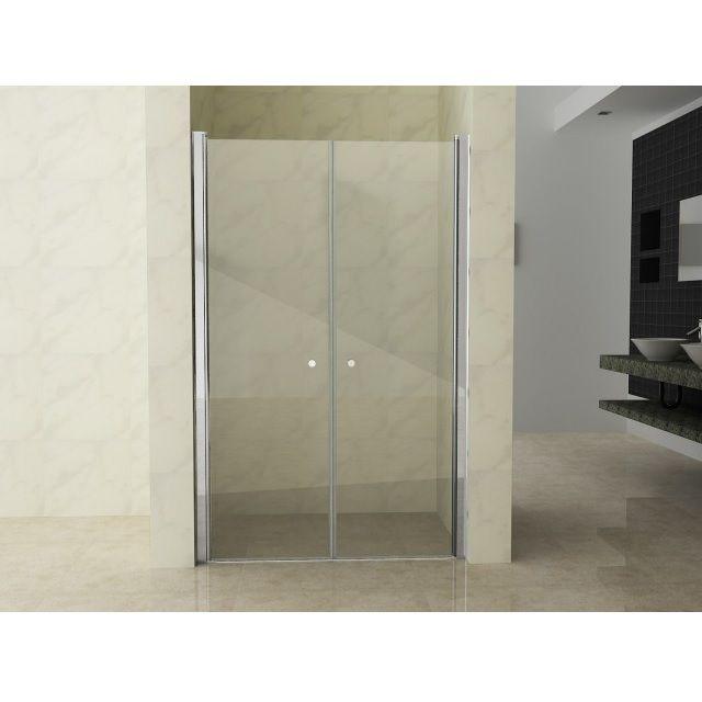 Box doccia angolare vetro trasparente opaco bagno italia pa - Porta doccia 120 ...