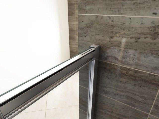 Porta doccia scorrevole per nicchia cristallo trasparente - Porta per doccia a nicchia ...