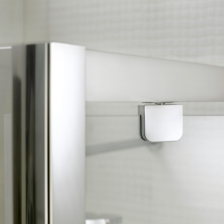 Porta doccia doppia anta unica a saloon h198 cristallo 6 for Porta 1 20