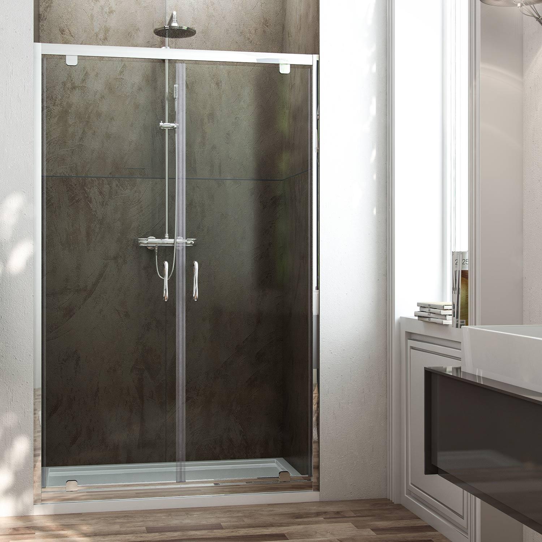 Porta doccia doppia anta a saloon H185 H198 cristallo 6 mm trasparente ...
