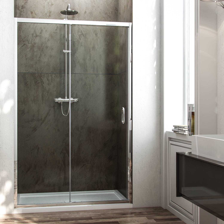 Porta doccia anta fissa porta scorrevole h185 cristallo 6 - Porta in cristallo scorrevole ...
