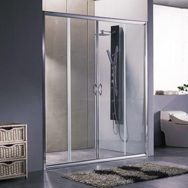 Porta doccia scorrevole per box nicchia 170 180 cristallo trasparente opaco ebay - Porta doccia nicchia prezzi ...
