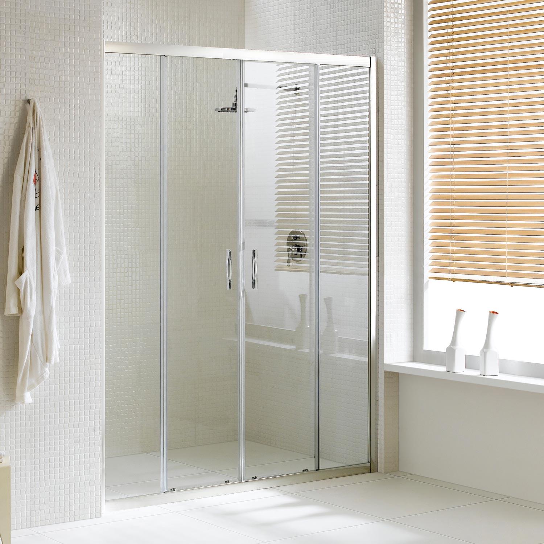 Porta doccia con due ante scorrevoli per nicchia H 185 198 cristallo 6 mm ID
