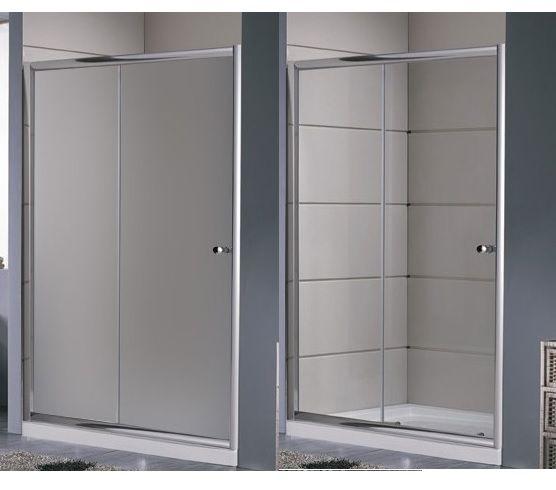 Porta doccia a nicchia anta scorrevole in vetro trasparente hd - Vetro doccia scorrevole ...