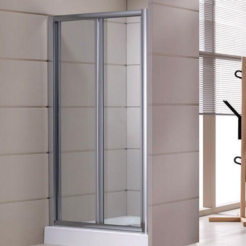 Porta doccia per nicchia apertura a soffietto o libro vetro opaco o trasparente hd - Porta doccia nicchia prezzi ...