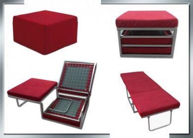Pouf letto venezia ad una piazza con materasso 72x45x73 in - Pouf letto singolo mondo convenienza ...