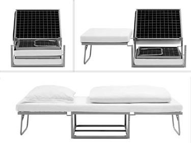 Pouf letto Venezia ad una piazza con materasso 72x45x73 in ...