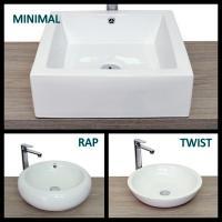Lavabo d 39 appoggio per mobile bagno rettangolare - Mobile per lavabo da appoggio ...