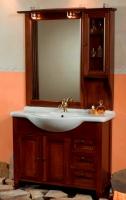 Arredo bagno mobile Arte povera Tiffany cm 75 in massello noce br