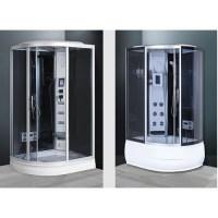 cabina idromassaggio multifunzione con vasca 120x85 reversibile con sauna bagno turco cb014