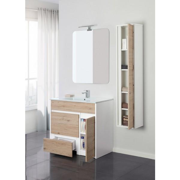 Mobile bagno fanny da 60 o 90 in 3 colori a terra con specchio - Specchio bagno 70x90 ...