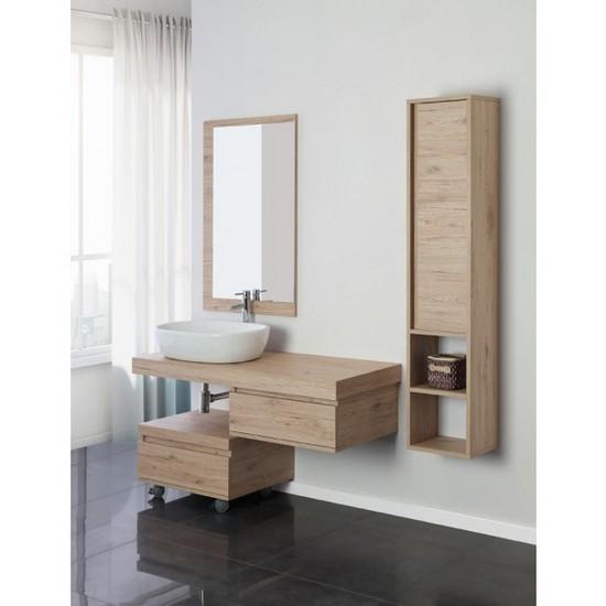 Mobile bagno pink mensola porta lavabo da cm 120 con - Cassettiera con specchio ...