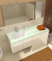 Mobile bagno con porta o copri lavatrice VIP3 da 160 cm bianco lucido ...