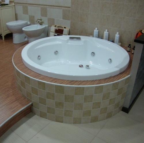 Vasca idromassaggio circolare 150 da incasso 8 getti hd - Vasca da bagno incasso ...