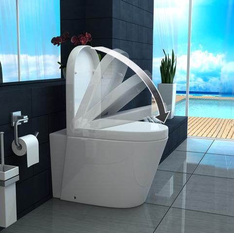 Vaso WC e Bidet sospeso o a terra ceramica con chiusura soft close ...