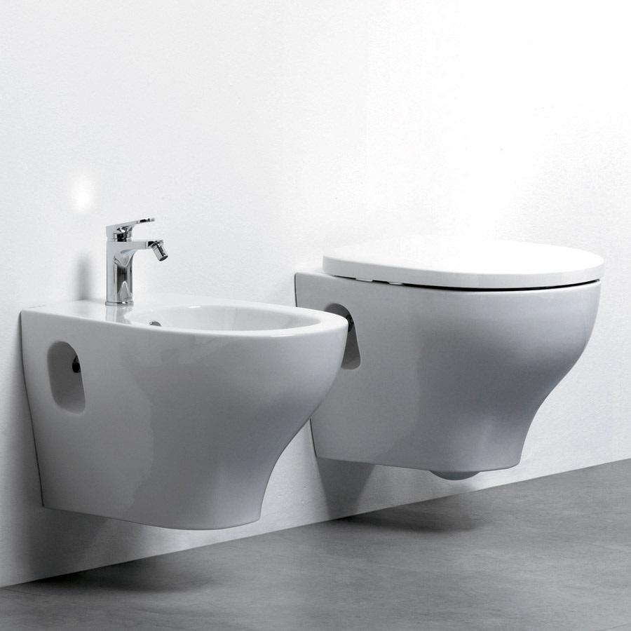 Sanitari cover sospesi moderni in ceramica senza brida for Sanitari bagno