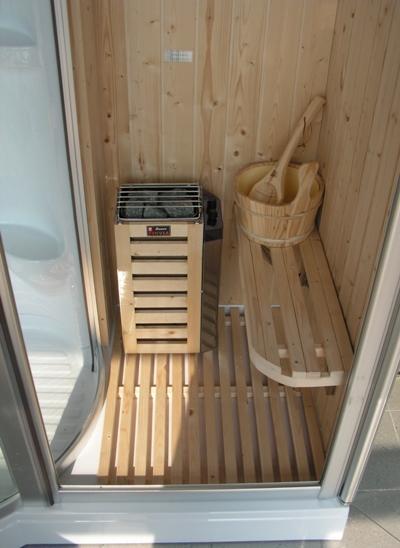 Box doccia idromassaggio 168x95cm con sauna e cromoterapia vi - Sauna bagno turco ...