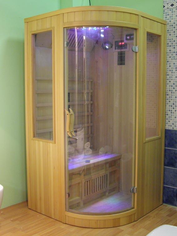 Sauna Finlandese 100x100x190 per 2 Persone con Infrarossi