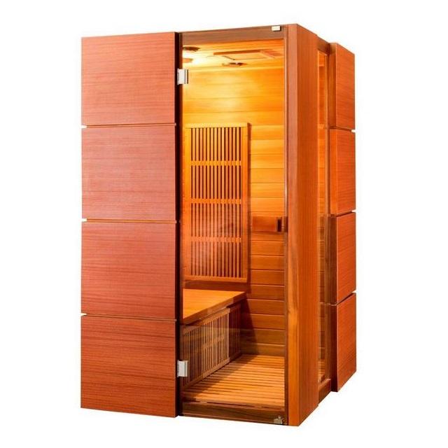 Sauna infrarossi 120x120 per 2 persone 8 irradianti in carbonio ...
