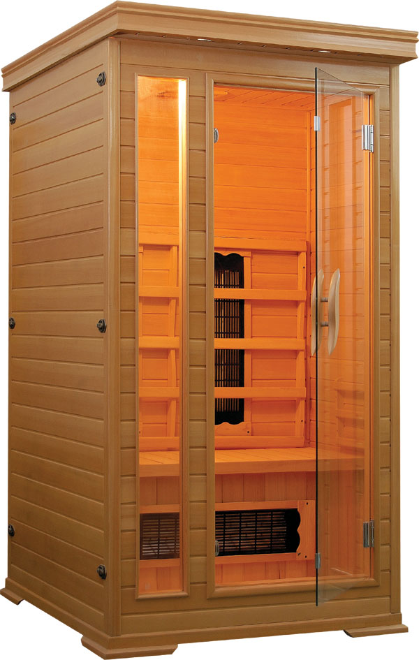 sauna infrarossi 90x90 120x120 per una o due persone in. Black Bedroom Furniture Sets. Home Design Ideas